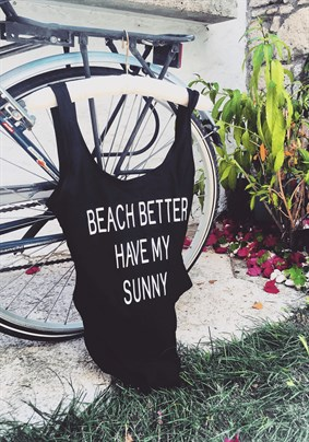 Beach Motto Black Mayo